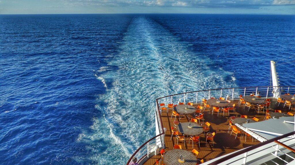 caribbean, ship, driving cruise ship